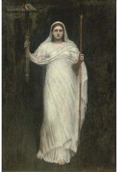 The High Priestess by Arthur Hacker (1858-1919, United Kingdom)