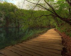 Plitvice Lakes National Park (croat.: Nacionalni park Plitvička jezera) between Karlovac and Zadar, Croatia.