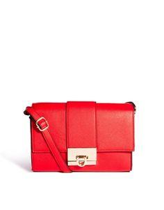Cherry red crossbody bag - $42