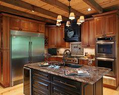 Brilliant Modern Rustic Lodge Design: Sleek Traditional Kitchen Design Ideas Crazy Fox Lodge