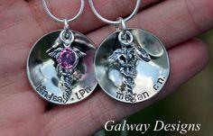 Custom Hand Stamped Nursing Pendant Nurses by galwaydesigns