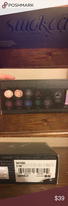 Urban Decay Smoked Eyeshadow Palette NEW Brand new. Comes with a eyeliner and eyeshadow primer potion Urban Decay Makeup Eyeshadow