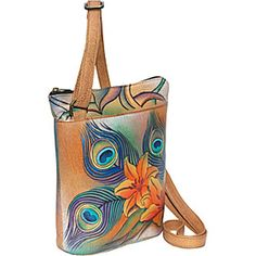 Anuschka Two Sided Zip Travel Organizer - Peacock Lily - Peacock Lily - via eBags.com!