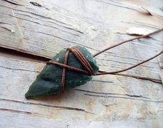 Agate Arrowhead Necklace 18 Inch Bohemian Boho Hippie Tribal Arrow Head String Wrapped Native American Inspired on Wanelo