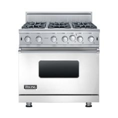 Viking - 5.1 Cu. Ft. Freestanding Gas Convection Range - Stainless steel - Front_Standard