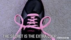 The best way to tie your running shoes. Watch and learn!