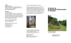 A guide to community arboretums in Oregon, by the Oregon Urban and Community Forestry Assistance Program
