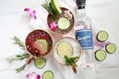 3 twists on the Moscow Mule via A Beautiful Mess, working with @hangar1vodka. #Hangar1Vodka