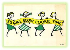 1950's Girl Scout Cookie Poster