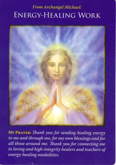 Archangel Michael is said to be God's right hand. He can help you let go of all those things, people, patterns, bindings that hold you in the past, but no longer serve you. Reiki, Archangel Prayers, Angel Guide, Angel Quotes, Bible Quotes, Coaching, Doreen Virtue, Divine Light, Angel Cards