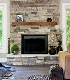 Clair Ledge Stone Natursteinfurnier More Source by patricktuley The post Kamin aus Stein St. Clair Ledge Stone Natursteinfurnier appeared first on My Art My Home. Reclaimed Wood Mantel, Rustic Mantle, Farmhouse Fireplace Mantels, Fireplace Redo, Wood Mantels, Fireplace Design, Fireplace Ideas, Stone Veneer Fireplace, Small Fireplace