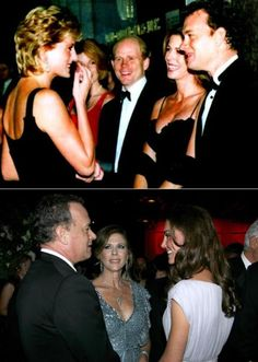 Top: Diana, Ron Howard & Tom Hanks ( and wife?)... Bottom: Tom Hanks (and wife?) with Kate