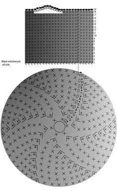 wzór na szydełkowy kosz ze sznura