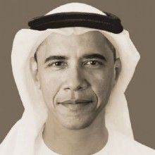 Artist captures President Obama in Arab attire