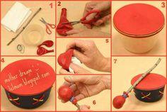 Tambor feito de balão