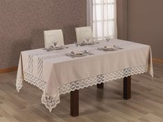 Cottony Carrllıne Keten Yemek Takımı 25 Pcs - Yatak Örtüleri - Nevresim Takımları - Masa Örtüleri   Wedding Masa Örtüsü   EVLEN Modelleri