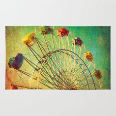The Unbearable Elation of Summer carnival ferris wheel  Area & Throw Rug  $28.00-2 X 3 /// $58.00-3 X 5 /// $79.00-4 X 6