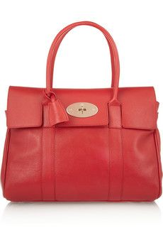 Mulberry The Bayswater textured-leather bag | NET-A-PORTER