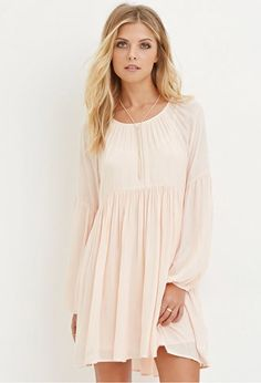 Contemporary Pleated Chiffon Dress | LOVE21 - 2000163866
