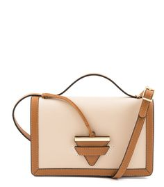 Leather crossbody bag. Leather sliding strap.