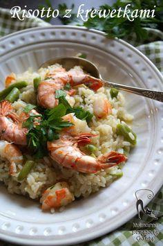 Risotto-za-krewatkami Risotto, Shrimp, Meat, Ethnic Recipes, Food, Essen, Meals, Yemek, Eten