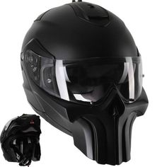 punisher modular motorcycle helmet