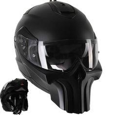 punisher modular motorcycle helmet