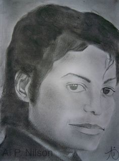 """M.J."" by Ai P. Nilson (quick sketch) #pencil #drawing #graphite #michael #jackson #drawing"