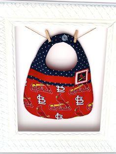 Cardinal Bib Handmade bib Appliqued Bib by BabyBeaniesandBibs