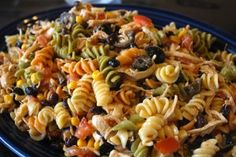 Turn your tailgate into a fiesta, when you serve this kicked up pasta salad. All the flavors you love most about Mexican food come together as an awesome taco pasta salad side dish.