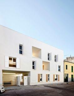 Sozialer Wohnungsbau in Sa Pobla auf Mallorca - Flachdach - Wohnen - baunetzwissen.de
