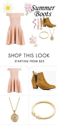 """""""How to wear summer boots"""" by k-ahmad on Polyvore featuring Boohoo and 2028"""