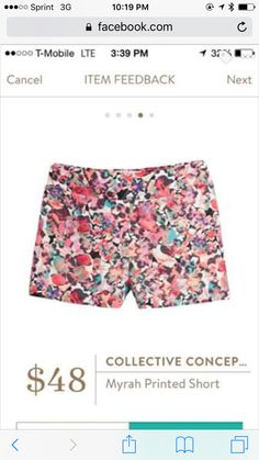 Collective Concepts Myrah Printed Shorts I love Stitch Fix! Personalized styling service and it's amazing!! Fill out a style profile with sizing and preferences. Then your very own stylist selects 5 pieces to send to you to try out at home. Keep what you love and return what you don't. Try it out using the link! #stitchfix https://www.stitchfix.com/referral/5634870