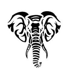 Black Tribal Elephant Head Tattoo Stencil By FrostyGorillaz Tribal Tattoos With Meaning, Tribal Tattoos For Women, Tribal Tattoo Designs, African Tribal Tattoos, Polynesian Tribal Tattoos, Tribal Animal Tattoos, Maori Tattoos, Samoan Tattoo, Crow Tattoos