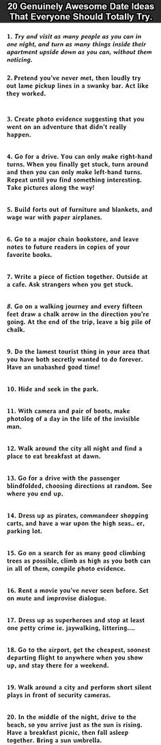 ...This is a totally fun thing to do... #6 is an awesome idea!!!