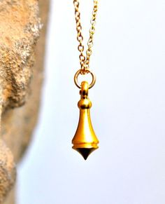 Gold Plated Khmer Drop Necklace, $45 from Etsy.  Tiny, dainty, beautiful pendant.