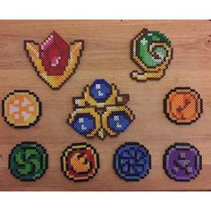 Zelda spiritual stones perler beads by ilexjolly