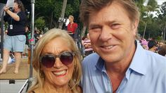 """And here I am with Richard Wilkins from The """"Today Show"""" when they came to Airlie Beach."""