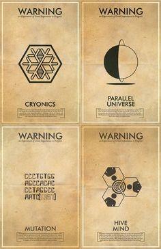 sci-fi pictograms