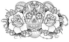 "Sugar Skull, this one is in my waiting list of yet to be tattoo""d on me :D"