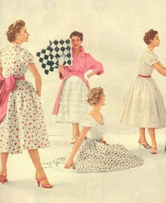 Pretty spring dresses from the 1950's