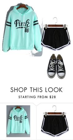 pink by roseryan13 on Polyvore featuring Converse