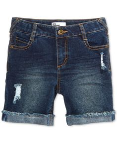 Epic Threads Distressed Denim Shorts, Big Girls (7-16), Only at Macy's