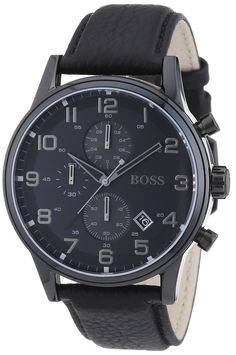 Signature Hugo Boss watches are always the perfect gift for any man on your listSoft and supple black leather band perfect for anyone with sensitive wristsWater and scratch resistant watch perfect for