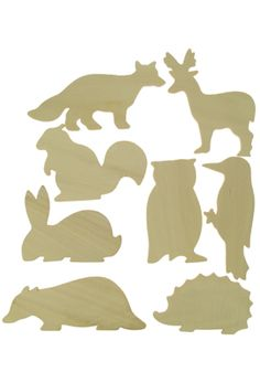 British Wildlife Wooden Templates