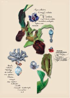 High Jewelry-  collages by Florence Tétier calligraphy by Nicolas Ouchenir for Novembre Magazine