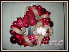 Valentine Ornament Wreath (tutorial), Valentine's & Romantic Crafts
