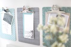 #diy, #office, #organization, #bulletin-boards, #clip-boards, #inspiration-board    View entire slideshow: 20 Chic Ideas for an Organized Office on http://www.stylemepretty.com/collection/329/
