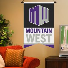 """Mountain West Conference 17"""" x 26"""" Premium One-Sided Banner - $10.99"""