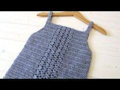 VERY EASY crochet baby / girl's bobble dress tutorial - part 1 - YouTube